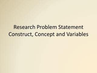 Dissertation Problem Statement Outline